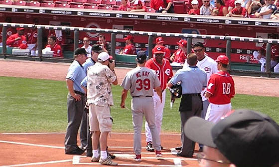 Exchanging the Line Ups - Great American Ballpark